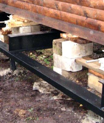 ремонт фундамента бани