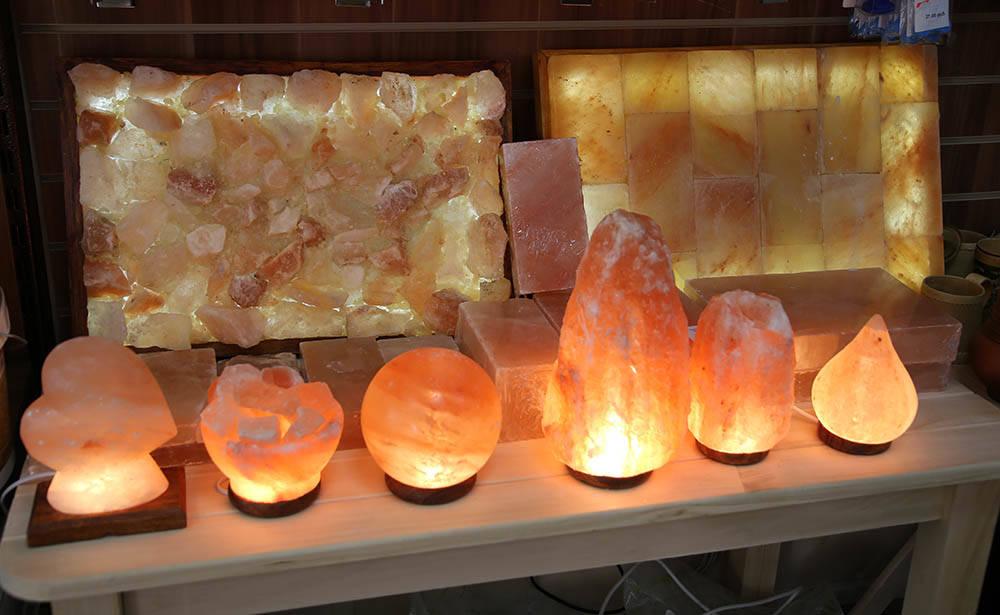 Соляные лампы в бане