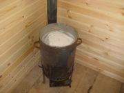 Сварная печь для трубы