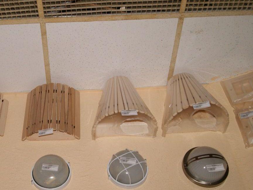 Решётки для светильников для бани
