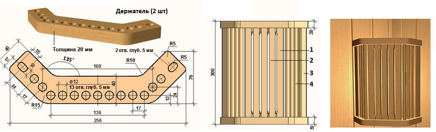 Схема вентилируемого плафона для бани