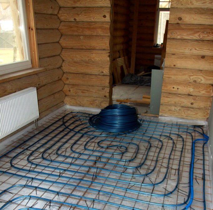 Построить баню теплый пол