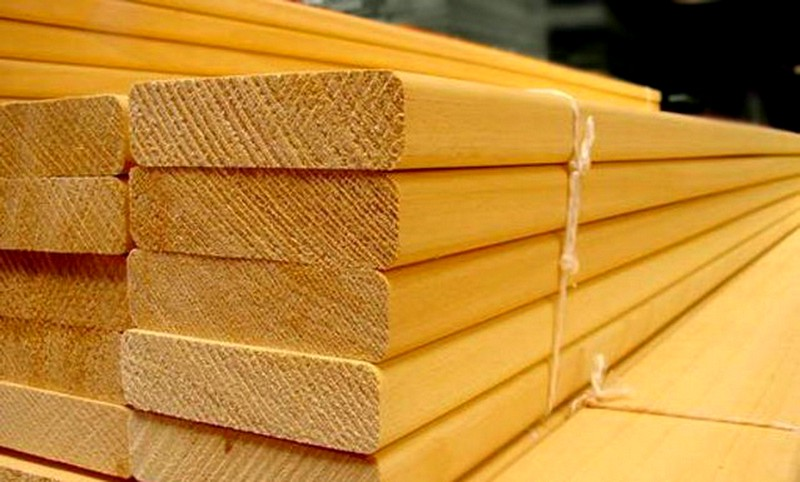 заготовка древесины для бани