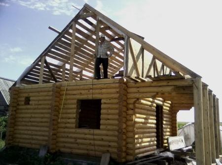 Крыша для бани своими руками: монтаж, фото и видео