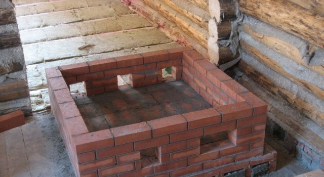 фото: фундамент печи для бани
