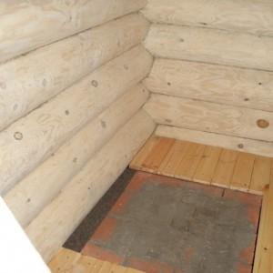 фото: готовый бетонный фундамент под печку