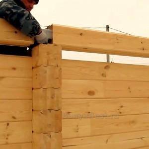 фото: сборка стен из профилированного бруса