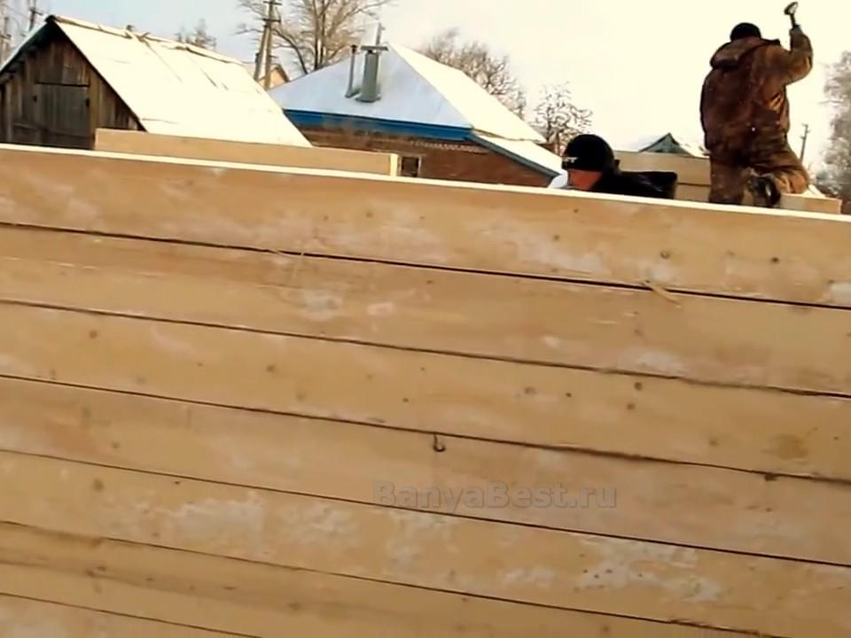 фото: брус для строительства бани