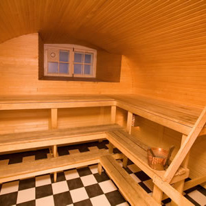 фото: полок бани после покрытия антисептиками