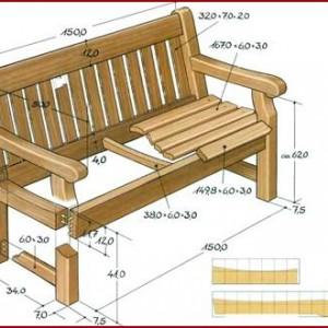 фото: схема скамейки для комнаты отдыха