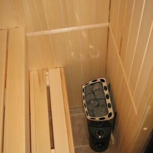 фото: полога сауны в квартире