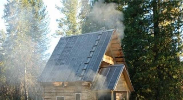 фото: баня по черному с крыльцом