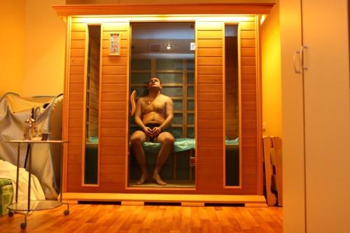 фото: инфракрасная баня своими руками