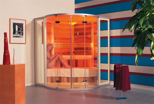 фото: инфракрасная сауна в виде кабинки