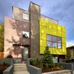 Стильное сочетание фасадных панелей