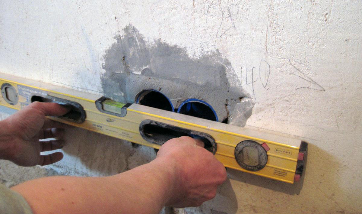 Монтаж в обычные стены