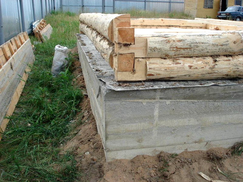 Заливка фундамента бани