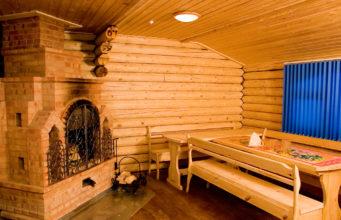 Внутренняя отделка бани на даче
