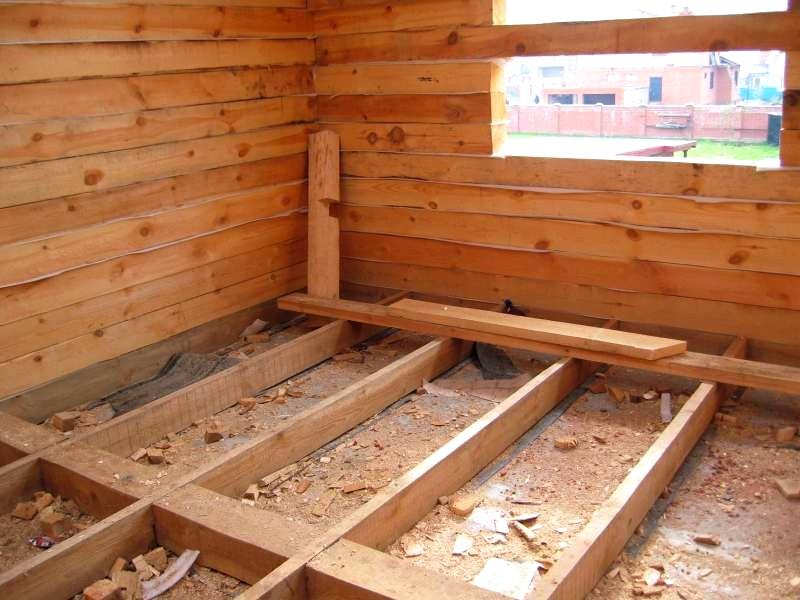 Пол в деревянной бане