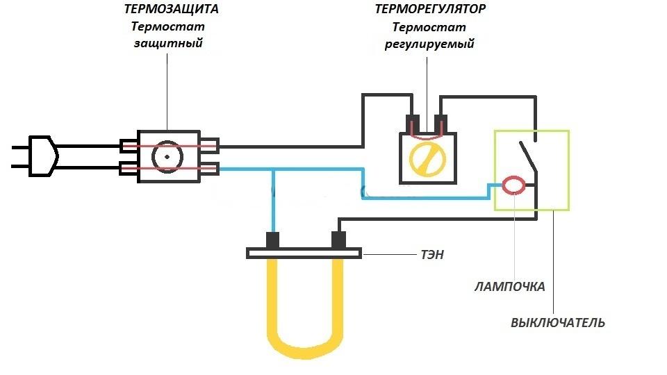 Схема водонагревателя