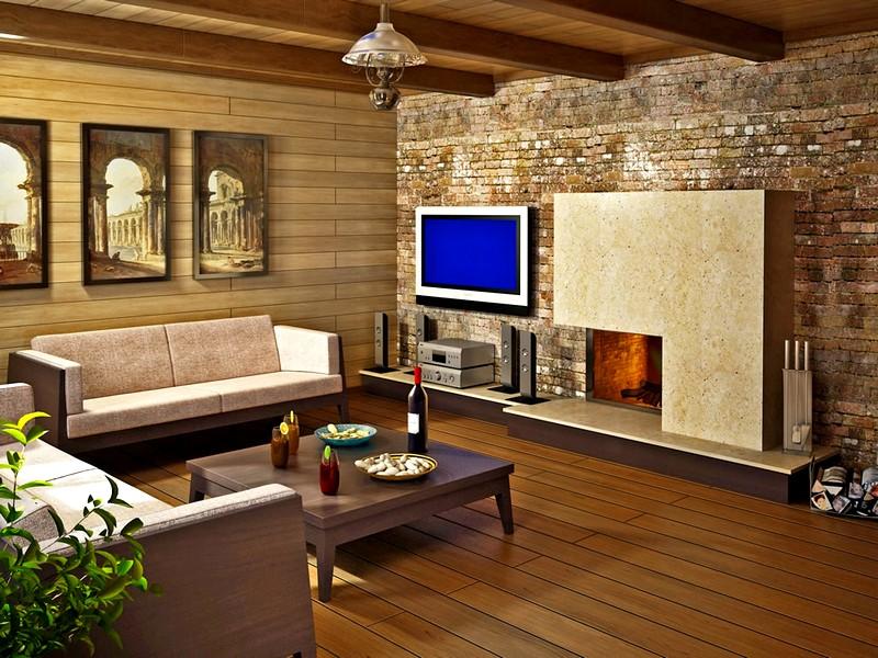 дизайн комнаты отдыха в бане