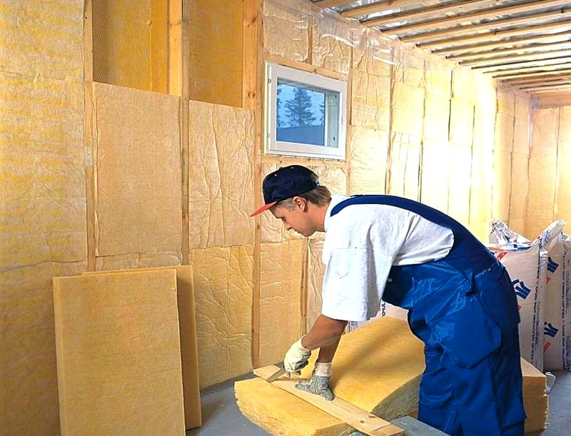 утепление стен деревянной бани изнутри