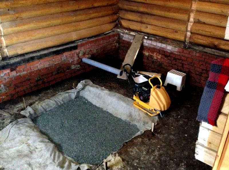 фундамент для печи в баню