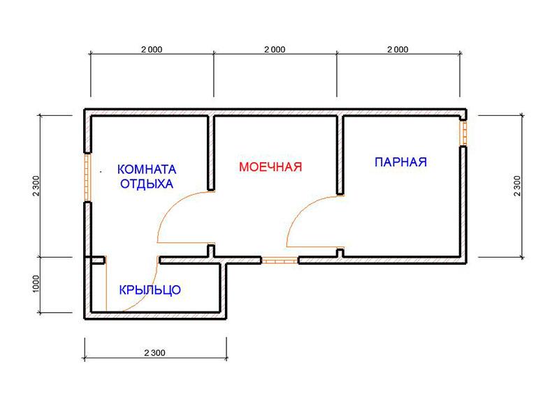 Проект дачной бани