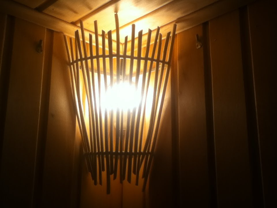 Решётка для светильника в бане