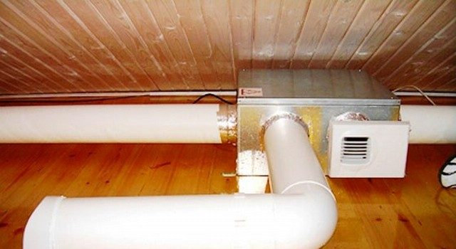 Вентиляция для бани из пластика