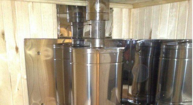 Бак для бани на трубу