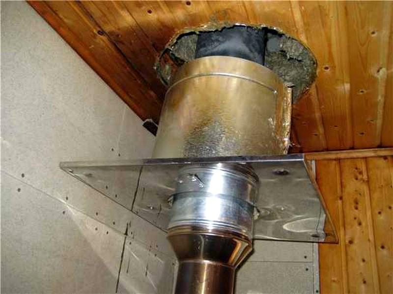 Как сделать безопасную трубу в бане