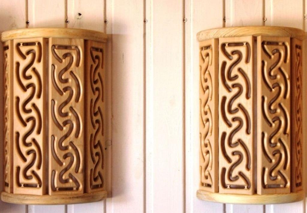 Резные светильники для бани