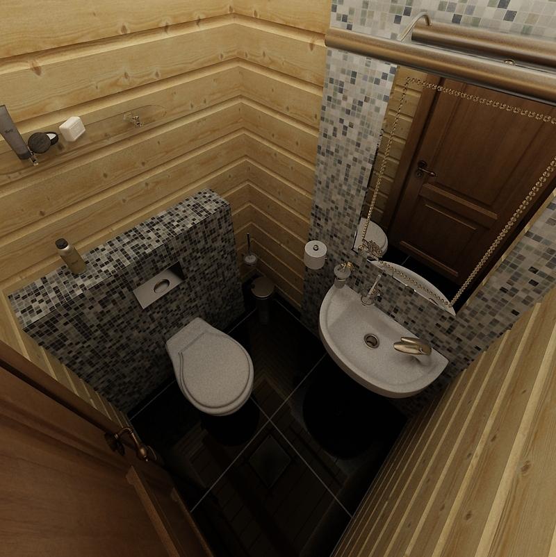 Отделка туалета в бане вагонкой
