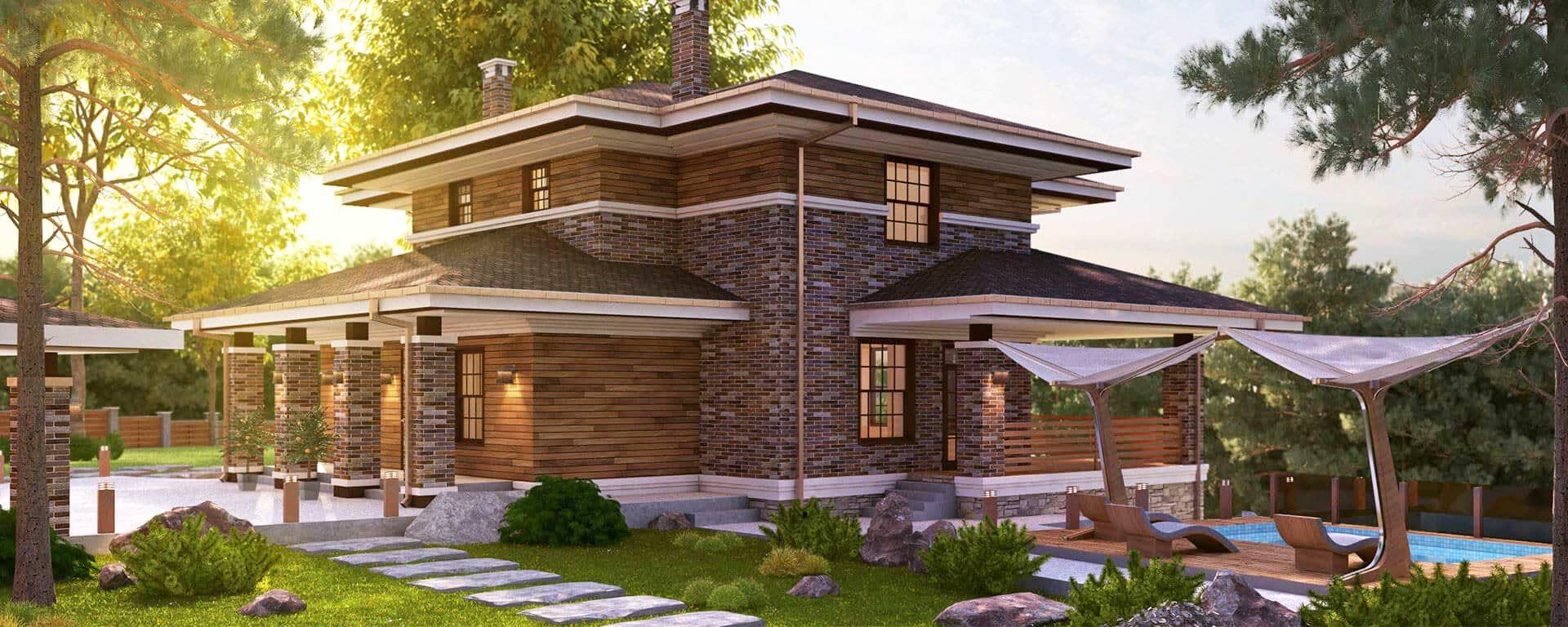 Строительство загородного дома под ключ