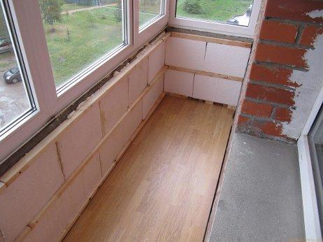 Внутреннее утепление балкона